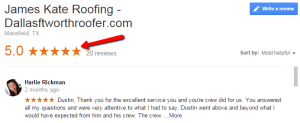 Roofing Google Reviews