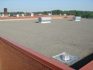 Arlington and Mansfield tar and gravel roofing installation
